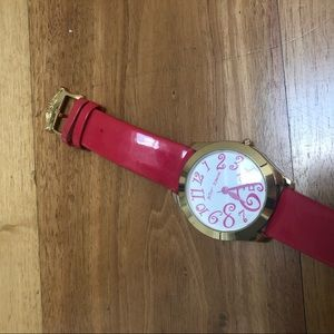 Pink Betsey Johnson watch